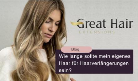 Wie lange sollte mein eigenes Haar für Haarverlängerungen sein?
