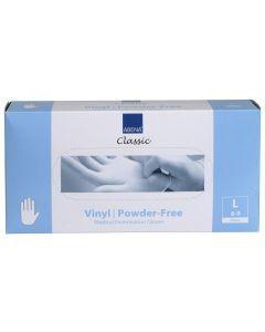 Abena Vinyl-Handschoenen Classic poedervrij Maat L transparant 100st