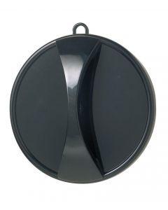 Handspiegel schwarz 29cm