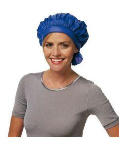 Kunststoff Kaltwellhaube mit Klettband blau